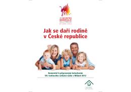 Fakta o rodině v ČR