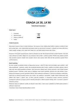 Návod Osaga kompresor