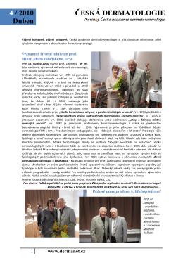 Česká dermatologie NEWS duben 2010
