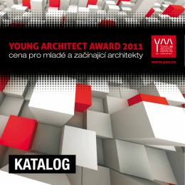 KATALOG - Young Architect Award