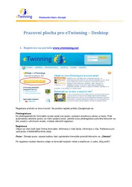 Pracovní plocha pro eTwinning – Desktop
