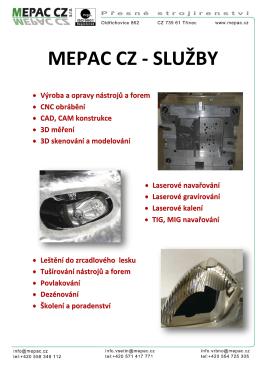 služby - Mepac.cz, s.r.o.