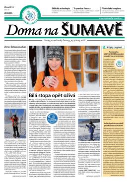 """Noviny """"DOMA NA ŠUMAVĚ Zima 2014"""""""