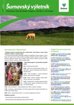 Šumavský výletník - červenec 2014