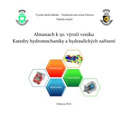 Almanach k 50. výročí vzniku Katedry hydromechaniky a