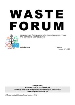 Termická aktivita skládek komunálních odpadů