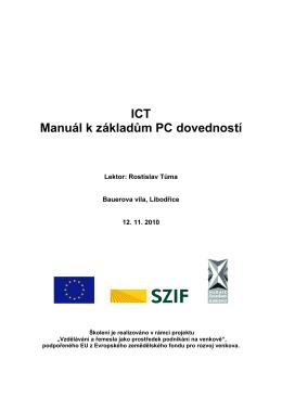 ICT Manuál k základům PC dovedností