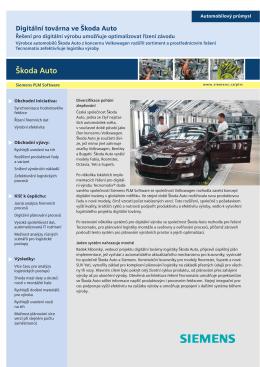 Škoda Auto - Siemens PLM Software