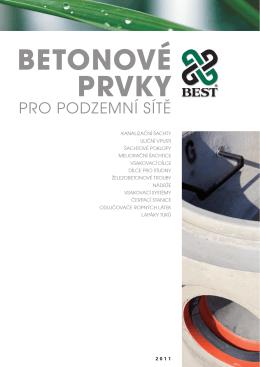 Katalog: Betonové prvky pro podzemní sítě