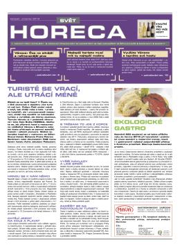 EkOlOGICké GASTRO - Svět gastronomie & hotelnictví