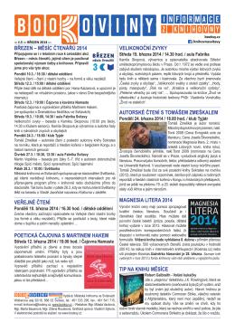 č. 5 – březen 2014 - Městská knihovna ve Svitavách