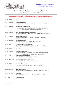 Konference pro ZP - nelékaře, ŘÍJEN (3.11.2014)