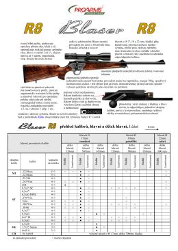 Blaser pušky řady R8 MO2013