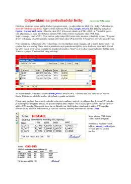 Odpovídání na SWL lístky v BV7 (PDF)