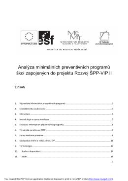 Analýza minimálních preventivních programů škol