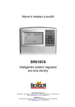 Solární regulace SR618C6 - CZ