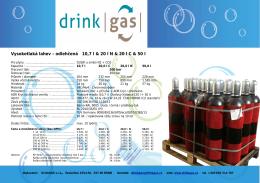 Vysokotlaká lahev – odlehčená 10,7 l & 20 l N & 20 l C