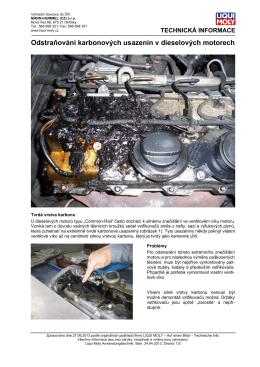 Odstraňování karbonových usazenin v dieselových