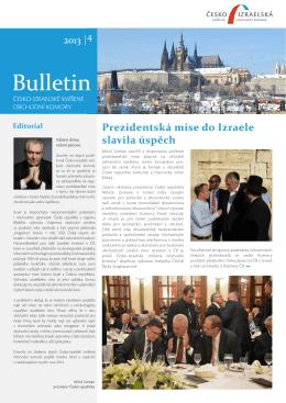Bulletin ČISOK 2013/4 - Česko-izraelská smíšená obchodní komora