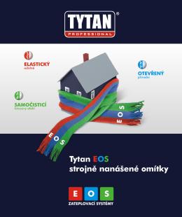 Tytan EOS strojnì nanášené omítky