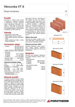 Technický list věncovek VT 8 655,11KB