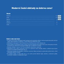 Moderní české obklady za dobrou cenu!