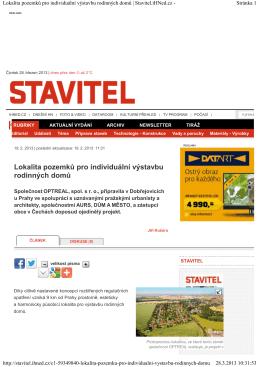 Výstavba Dobřejovice | Stavitel.iHNed.cz -