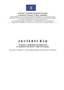 Zkušební řád - Asociace techniků BOZP a PO České republiky