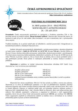 pozvánka - Česká astronomická společnost