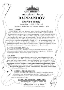 ZDE - Tábor Barrandov