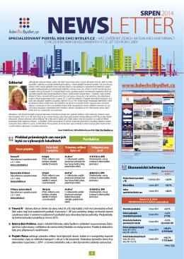 Newsletter srpen 2014