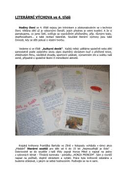 LITERÁRNÍ VÝCHOVA ve 4. třídě