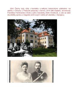 Jižní Čechy byly vždy v kontaktu s velkými