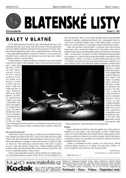 přiloženém PDF - Pražský komorní balet