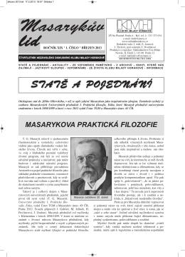 Masarykův lid 1/2013 - Klub dr. Milady Horákové