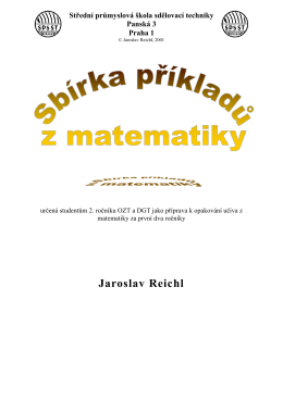 x - Jaroslav Reichl