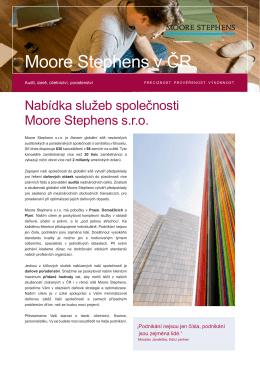 Moore Stephens v ČR