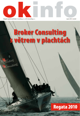 Broker Consulting s větrem v plachtách