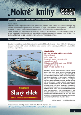1 Zpravodaj o publikacích o lodích, plavbě, a lidech kolem nich.... č