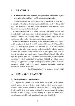 I. PRAVOPIS - Radek Čech
