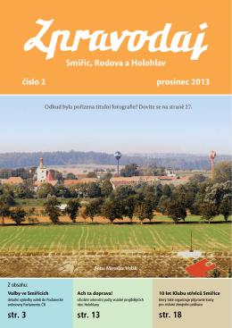 Smiřic, Rodova a Holohlav číslo 2 prosinec 2013