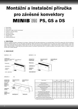 Montážní návod designové konvektory MINIB