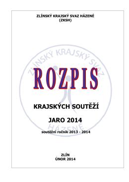 ROZPIS ZKSH jaro 2014