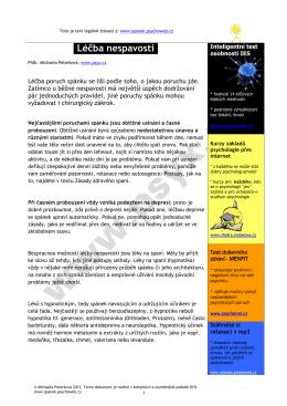 stáhnout v pdf - SPÁNEK