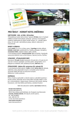 - Horský hotel Sněženka