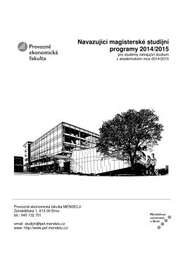 Navazující magisterské studijní programy 2014/2015
