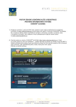 Jak získat licenční klíč a registrovat CODEXIS ® ACADEMIA