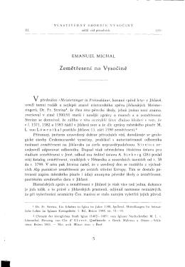 Emanuel Michal - Muzeum Vysočiny Jihlava