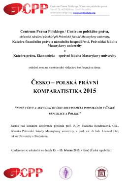 česko – polská právní komparatistika 2015