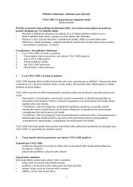 informace pro uživatele VELCADE 3,5 mg prášek - Janssen